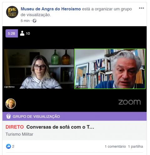Jorge Bruno nas 窶廚onversas de sofテ。 com o Turismo Militar窶�
