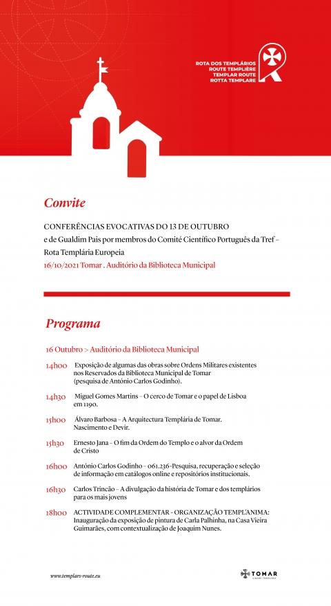 TREF promove Conferテェncias Evocativas do 13 de outubro